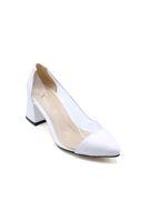 Selsan Cyl Yanı Şeffaf Klasik Kadın Ayakkabı BEYAZ