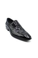 Fosco Rugan Streç Klasik Erkek Ayakkabı SİYAH RUGAN
