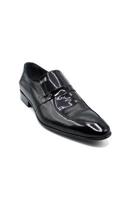 Fosco Rugan Streç Klasik Erkek Ayakkabı SİYAH RUGAN resmi
