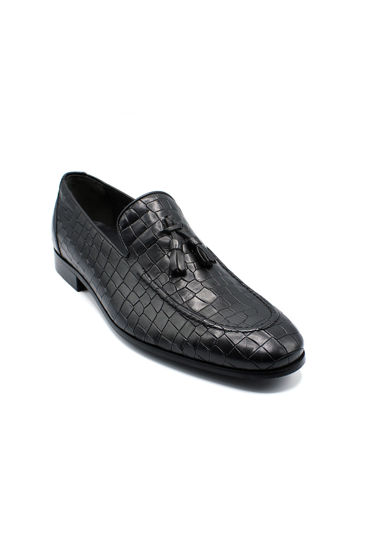 Fosco Klasik Corcik Erkek Ayakkabı SİYAH KOROKO resmi