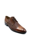 Fosco Lazerli Bağlı Klasik Erkek Ayakkabı TABA