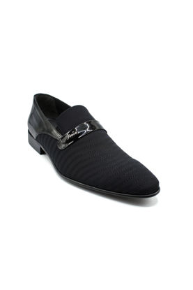 Fosco Nakışlı Klasik Erkek Ayakkabı SİYAH STREÇ resmi
