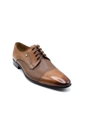 Fosco Bağlı Klasik Erkek Deri Ayakkabı TABA resmi