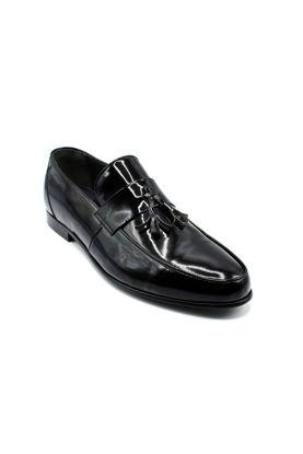 Fosco Klasik Corcik Erkek Ayakkabı SİYAH RUGAN resmi