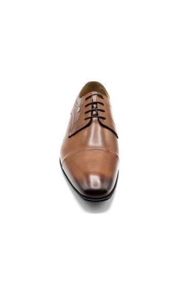 Fosco Erkek Klasik Günlük Deri Bağcıklı Ayakkabı TABA resmi