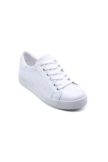 Endless Düz Bağlı Sneaker Ayakkabı BEYAZ resmi