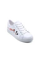 Endless Düz Bağlı Sneaker Ayakkabı BEYAZ MİCKEY