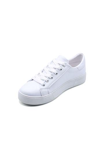 Endless Düz Bağlı Sneaker Ayakkabı BEYAZ MİCKEY  resmi