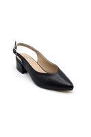 Selsan Cyln Arkası Açık Alçak Topuk Ayakkabı SİYAH MAT