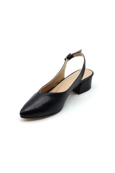 selsan-ceylanlar-arkasi-acik-alcak-topuk-ayakkabi-SİYAH MAT-443_150A-0009180_0