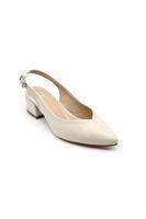 Selsan Cyln Arkası Açık Alçak Topuk Ayakkabı TEN MAT