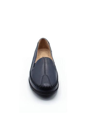 Selsan Pbş Deri Rahat Büyük Numara Ayakkabı LACİVERT resmi