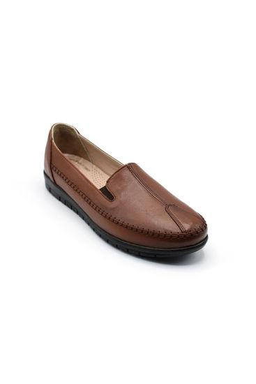 Selsan Pbş Deri Rahat Büyük Numara Ayakkabı TABA resmi