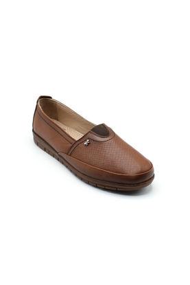 Selsan Pbş Deri Rahat Büyük Numara Ayakkabı TABA DERİ resmi