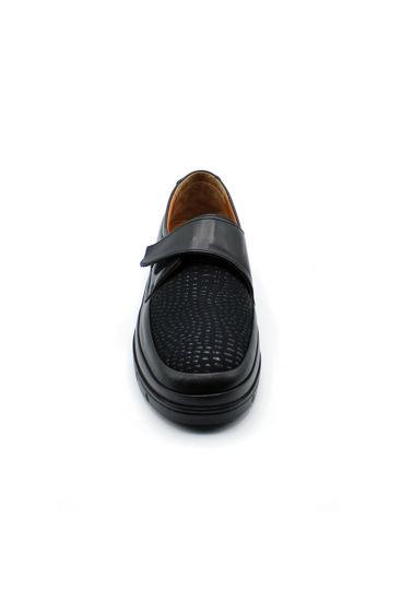 Selsan Pbş Deri Rahat Büyük Numara Ayakkabı SİYAH resmi