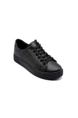 Endless Düz Bağlı Sneaker Ayakkabı FULL SİYAH resmi