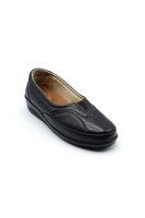 Selsan Pabuş Deri Rahat Ayakkabı SİYAH