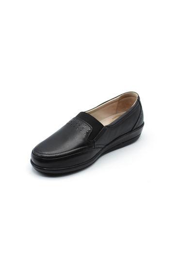 Selsan Pabuş Geniş Lastikli Tam Rahat Ayakkabı SİYAH resmi