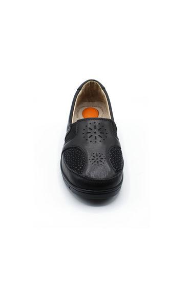 Selsan Pabuş Yıldızlı Rahat Kadın Ayakkabı SİYAH resmi