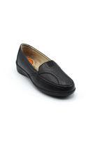 Selsan Pabuş Lastikli Rahat Ayakkabı SİYAH