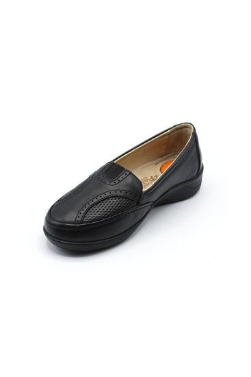 Selsan Pabuş Lastikli Rahat Ayakkabı SİYAH resmi