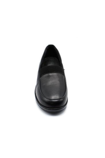 Estile Deri Rahat Ayakkabı SİYAH resmi