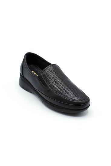 Selsan Pabuş Deri Rahat Ayakkabı SİYAH resmi