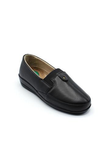 Selsan Ulusoy Deri Rahat Kadın Ayakkabı SİYAH DERİ resmi