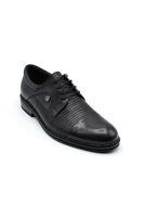 Selsan Lifond Bağcıklı Deri Klasik Ayakkabı SİYAH