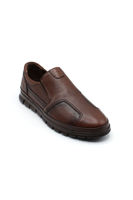 Selsan Blo Bağsız Klasik Erkek  Ayakkabı TABA