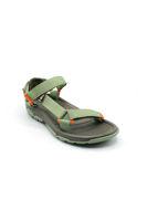 Selsan Vrs Renkli Keten Cırtlı Sandalet YEŞİL