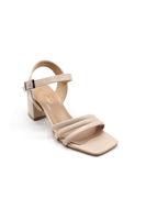 Selsan Özr 3 Şeritli Alçak Topuk Sandalet TEN