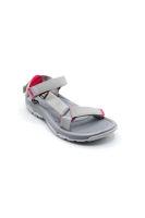 Selsan Vrs Renkli Keten Cırtlı Sandalet GRİ PEMBE