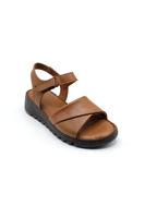 Selsan Bal Tek Bant Cırtlı Rahat Sandalet TABA