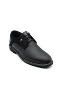 Selsan Cont Baskılı Casual Bağlı Ayakkabı SİYAH MAT- SÜET