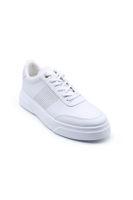 Selsan Cont Yanı Lazerli Bağlı Sneakers Spor BEYAZ