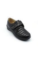 Selsan Pbş Cırtlı Deri Rahat Ayakkabı SİYAH