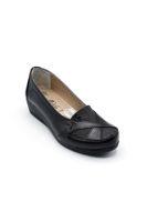 Selsan Dokulu Rahat Kadın Ayakkabı SİYAH