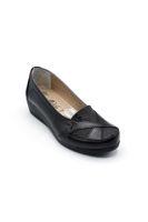 Selsan Edik Üzeri Desenli Rahat Ayakkabı SİYAH