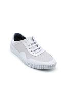 Selsan Msc Bağlı Lazer Baskılı Saraçlı Ayakkabı BEYAZ