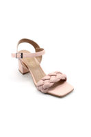 Özer Örgülü Topuklu Sandalet PUDRA