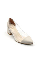 Selsan Cyl Yanı Şeffaf Klasik Kadın Ayakkabı TEN