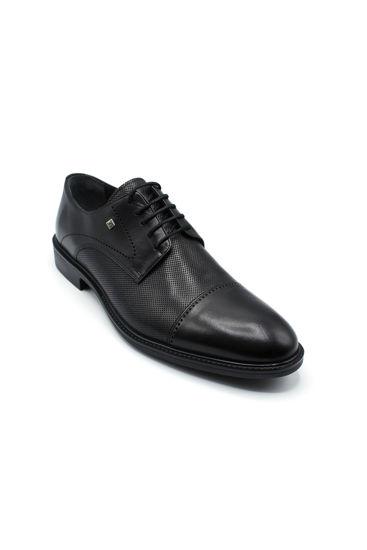 Fosco Bağlı Klasik Lazerli Erkek Ayakkabı SİYAH resmi