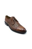 Fosco Bağlı Klasik Lazerli Erkek Ayakkabı TABA