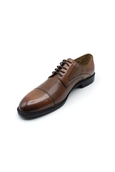 Fosco Bağlı Klasik Lazerli Erkek Ayakkabı TABA resmi