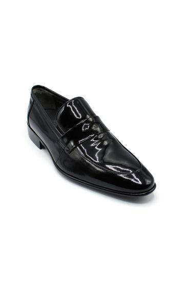 Fosco Klasik Erkek Siyah Rugan Ayakkabı SİYAH RUGAN resmi