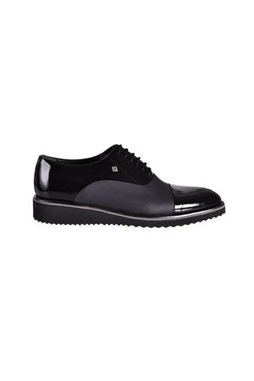 Fosco Bağlı Klasik Erkek Ayakkabı SİYAH RUGAN MAT resmi