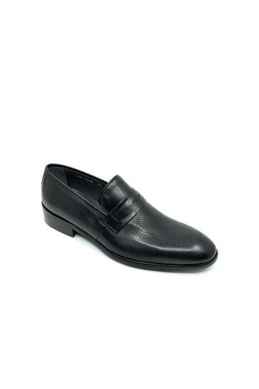 Fosco Bağsız Analin Deri Klasik Erkek Ayakkabı SİYAH resmi