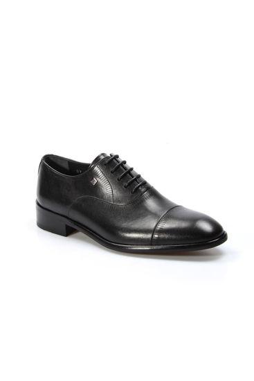 Fosco Erkek Deri Bağcıklı Klasik Ayakkabı SİYAH resmi