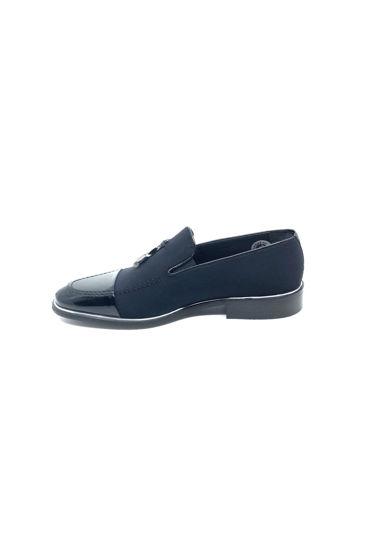 Fosco Klasik Corcik Streç Ruganlı Ayakkabı SİYAH RUGAN STREÇ resmi